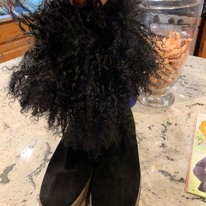 Michael Kors mongolian fur boots